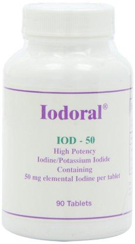 Optimox - Iodoral 50mg, High Potency Iodine/Potassium Iodide Thyroid Support Supplement, 90 tablets