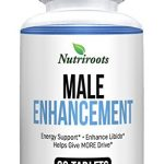 Nutriroots – Male Enhancement Pills – Libido Booster, Improve Performance, Endurance, Energy and Mood with Natural Ingredients – Zinc, Tongkat Ali, Maca, L-Arginine, Tribulus Terrestris