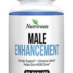 Nutriroots – Male Enhancement Pills – Libido Booster, Improve Performance, Endurance, Energy and Mood with Natural Ingredients – Zinc, Tongkat Ali, Maca, L-Arginine, Tribulus Terrestris