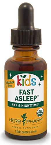 Herb Pharm Kids Certified-Organic Alcohol-Free Fast Asleep Herbal Formula, 1 Ounce