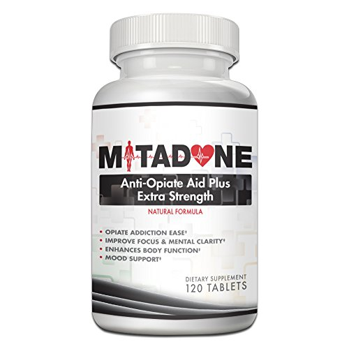Mitadone Anti Opiate Aid Plus| Extra Strength| Natural Formula (120 Count) Vicodin, Percocet, Methodone, Suboxone, Oxycontin, Codeine, Hydrocodone, Oxycodone, Morphine, Heroin and other Painkillers.
