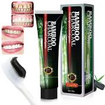 Activated Charcoal Teeth Whitening Toothpaste,Black Bamboo Charcoal Toothpaste Oral Hygiene Teeth Care, Toulifly Remove Coffee Stains (120g)