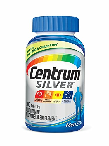 Centrum Silver Men Multivitamin / Multimineral Supplement Tablet, Vitamin D3, Age 50+ (200 Count)