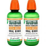 TheraBreath Dentist Formulated Fresh Breath Oral Rinse – Mild Mint Flavor, 16 Ounce (Pack of 2)