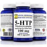 Mental Refreshment: 5-HTP: 100 mg 180 capsules (1 Bottle)