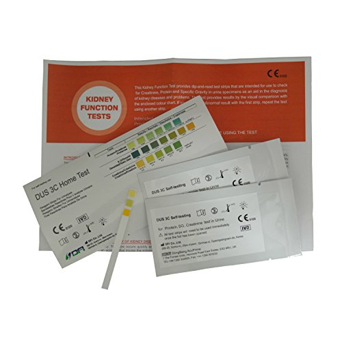 Home Kidney Function Urine Tests - Pack of 2 Individual Tests