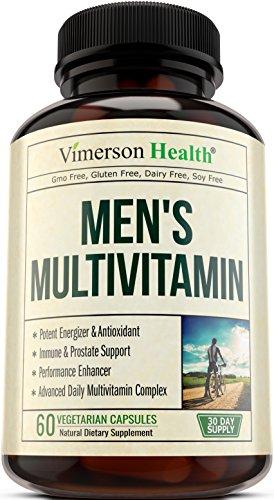 Men's Daily Multivitamin Supplement - Vitamins A C D E B1 B2 B3 B5 B6 B12, Saw Palmetto, Zinc, Selenium, Spirulina, Calcium, Lutein, Magnesium, Green Tea, Biotin. Natural Non-Gmo Multivitamins for Men