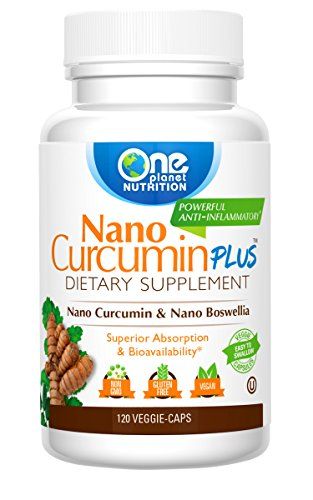 Nano Curcumin Plus - Powerful Anti-inflammatory, Antioxidant, & Pain Reliever - 4 MONTH SUPPLY (120 Capsules)
