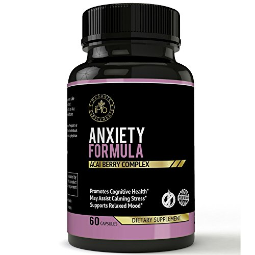 Anti Anxiety vitamins & Supplement With Gaba, L-Theanine, 5-HTP, Ashwagandha, Magnesium Oxide, St. John's Wort, Chamomile - Positive, Relaxed, Depression, Stress Support & Mood Enhancer