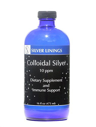 Silver Linings Colloidal Silver Hydrosol, 10 PPM, A Powerful Natural Antibiotic, and Preventative Measure Against Infections.