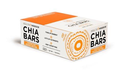 HEALTH WARRIOR Chia Bars, Chocolate Peanut Butter, Gluten Free, 25g bars, 15 Count