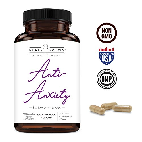 Anxiety and Stress Relief 1275mg Ashwagandha Blend Herbal Supplement: Natural Serotonin Booster For Relaxation, Mood and Focus - Promotes Calm and Improved Energy