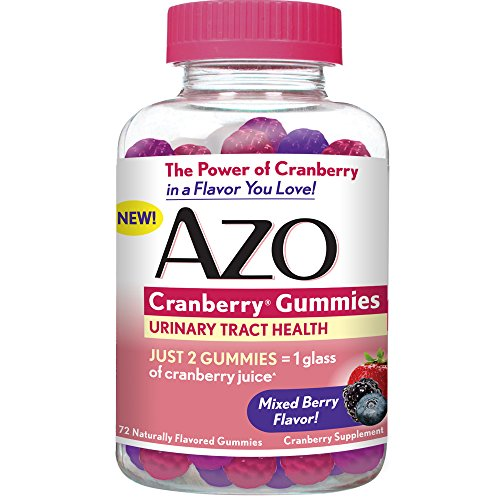 AZO Cranberry Gummies - Urinary Tract Health Dietary Supplement* – Mixed Berry Flavor – Just 2 Gummies Equal One Glass of Cranberry Juice^ - 72 Naturally Flavored Gummies