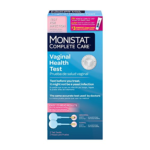 Monistat Complete Care Vaginal Health Test, 2 Test Swabs Included