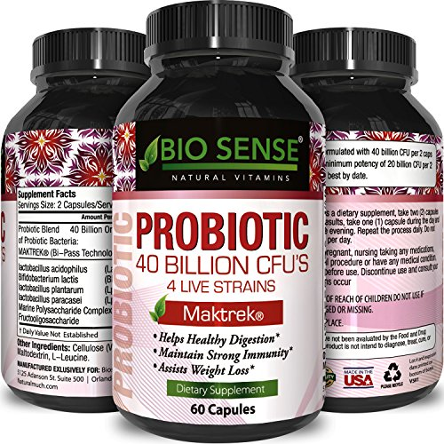 Probiotics Supplement Natural Probiotic Acidophilus + Bifidobacteria + Lactobacillus Plantarum + Lactobacillus Paracasei – Protect Against Diarrhea + Boost Immune System Women & Men By Bio Sense