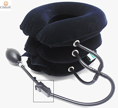 Neck Traction Device No1 Doctors Recommended Chisoft® Neck Stretcher For Pinched Nerves, Herniated Discs or Just a Minor Neck Pain | Treat Your Neck Better Here