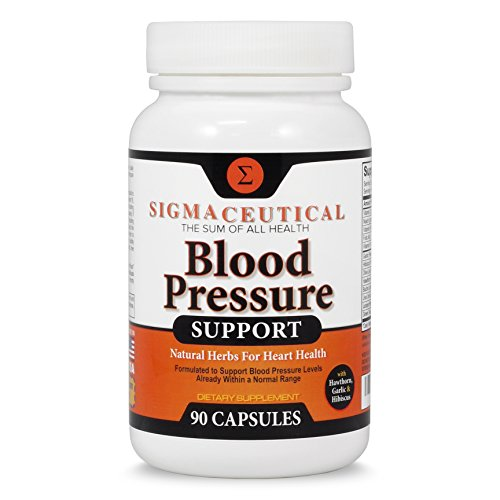 Premium Blood Pressure Support Formula - High Blood Pressure Supplement w/ Vitamins, Hawthorn Extract, Olive Leaf, Garlic Extract & Hibiscus Supplement Reducing Blood Pressure Naturally - 90 Capsules