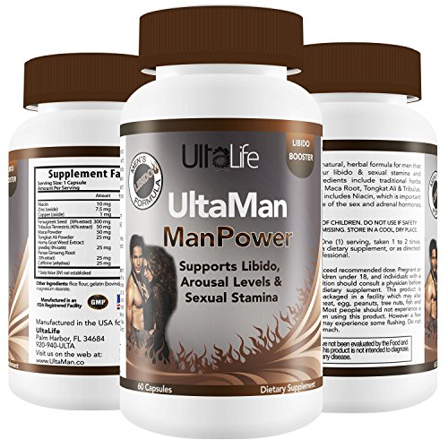 BEST LIBIDO ENHANCER For Men - Boosts Stamina, Endurance, Performance, Sexual Energy & Pleasure w/ Horny Goat Weed + Tribulus + Niacin + Maca for Better Erections, Passion & Sex Drive - Made in USA