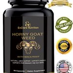 HORNY GOAT WEED WITH MACA ROOT – for Men & Women | Sexual Performance & 100% Natural Libido Boost | Supports Vitality, Testosterone Boost & Stamina | L Arginine, 1000mg Epimedium, Icariins 60 Caps