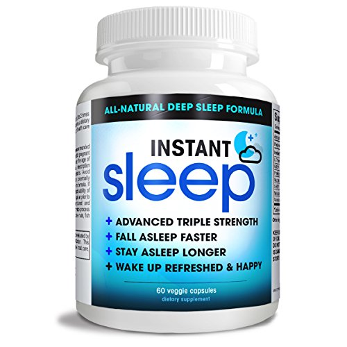 Instant Sleep COMPLETE Natural Sleep Aid Formula MAXIMUM Strength Sleep Support blend of L-Theanine, 5-HTP, Melatonin, Magnesium, Mucuna Pruriens Extract, GABA, and Phellodendron Root (herb powder).