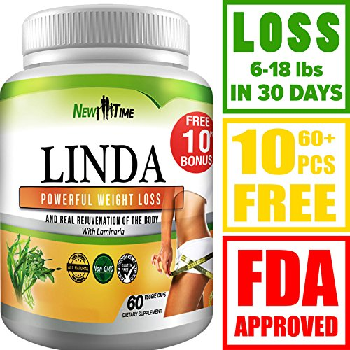 LINDA - Weight Loss Pills for Women & Men, Herbal Diet Supplements, Natural Fat Burner and Appetite Suppressant that work fast, Best diet pills +10 pcs