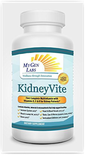 KidneyVite 100 Day Supply-The Revolutionary, State of the Art, Multi-Vitamin and Mineral Supplement To Support Your Kidney/Cardiovascular Health