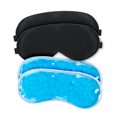 WEYN Ice Sleep Eye Mask with Reusable Gel Pad, Hot & Cold Therapy for Insomnia Puffy Eyes & Dark Circles Soft and Comfortable Sleeping Eye Cover With Adjustable Strap