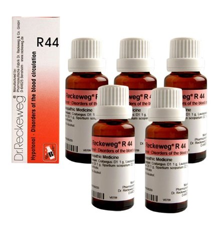 Dr.Reckeweg Germany R44 Disorders Of The Blood Circulation Pack Of 5