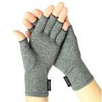 Arthritis Gloves by Vive – Compression Gloves for Rheumatoid & Osteoarthritis – Hand Gloves Provide Arthritic Joint Pain Symptom Relief – Men & Women – Open Finger (Small)