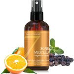 Sore Muscle Relief Magnesium Spray   Made in USA – Organic Blend of Essential Oils (Black Pepper, Orange, Sweet Marjoram)   For Joints, Cramps, Stiffness, Pain Relief, Improved Circulation & More