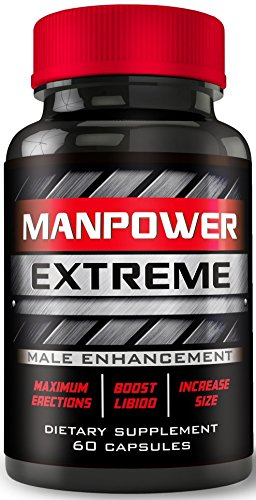 Manpower Extreme - MAX Erection Pills - Ultra-Max Blood-Flow Boost - Increases Men's Hardness, Drive, Libido - Boost Size - Male Enhancement Pills, Enlargement Pills for Men