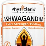 1950mg Ashwagandha: MD Formula Natural Anti-Anxiety, Promotes Positive Mood, Helps Relieve Stress, Adrenal Support, Highest Potency Available, 15MG Black Pepper – 90 Veggie Ashwagandha Capsules
