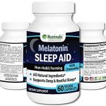 Melatonin Sleep Aid Non-Habit Forming With Chamomile and Lemon Balm Extract All Natural Helps You Fall Asleep Fast & Stay Asleep 60 Veggie Caps MADE IN THE USA