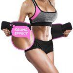 Perfotek Waist Trimmer Belt, Weight Loss Wrap, Stomach Fat Burner, Low Back and Lumbar Support with Sauna Suit Effect, Best Abdominal Trainer (Trimmer Belt – Pink)