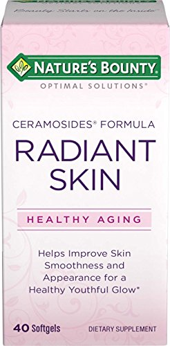 Nature's Bounty Optimal Solutions Radiant Skin Ceramocides, 40 Softgels