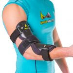 BraceAbility Cubital Tunnel Syndrome Elbow Brace | Splint to Treat Pain from Ulnar Nerve Entrapment, Hyperextended Elbow Prevention and Post Surgery Arm Immobilizer – L (LARGE / X-LARGE)