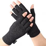 Arthritis Compression Gloves Relieve Pain from Rheumatoid, RSI,Carpal Tunnel, Hand Gloves Fingerless for Computer Typing and Dailywork, Support For Hands And Joints (Black, Medium)