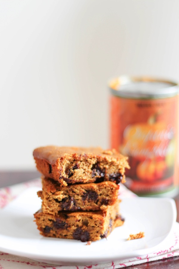 Flourless pumpkin chocolate chip bars 2