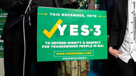 A Massachusetts law protecting transgender people is in danger of being repealed
