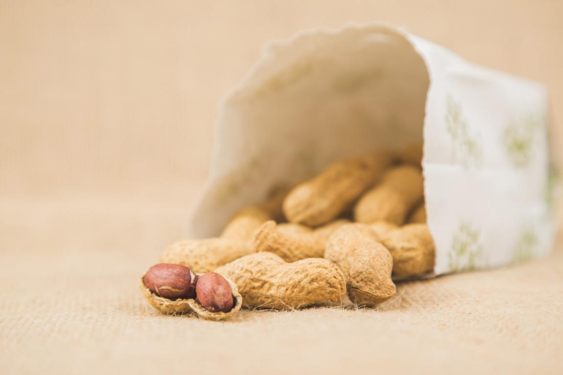 paper bag with peanuts