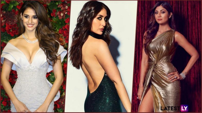Disha Patani in Cleavage-Revealing Gown, Kareena Kapoor Khan's Backless Outfit & Shilpa Shetty's Thigh-High Slit Dress: Sexy Trio Shows How to Carry Risque Gowns Effortlessly at DeepVeer Wedding Reception!
