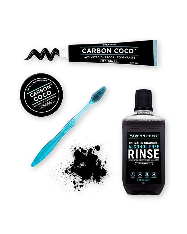 carbon coco activated charcoal teeth whitener