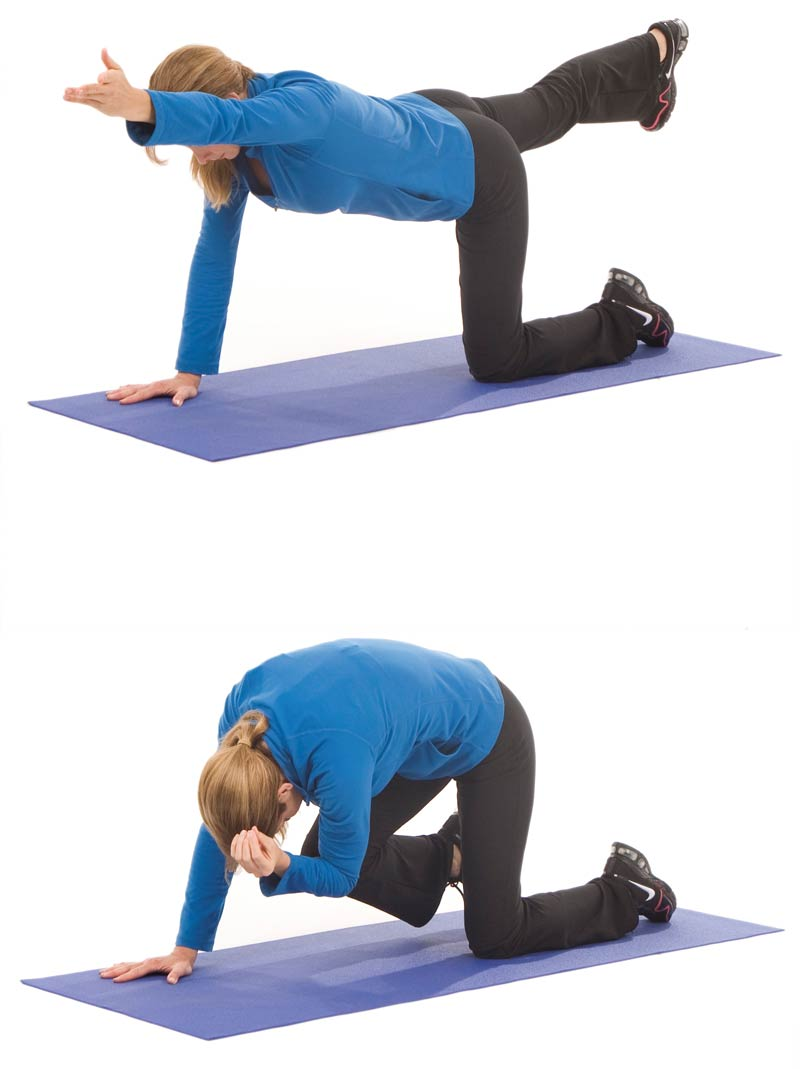 Extended Table to Abdominal Crunch