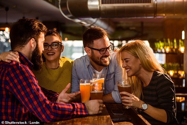 My specific knowledge is of the pub trade, which had its own structural problems long before the pandemic. Sadly many of the 60,000 or so British pubs will close permanently, even if all restrictions were lifted today [File photo]