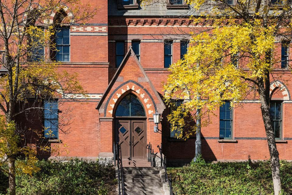 Samuel Curtis Johnson Hall, School of Management on the...
