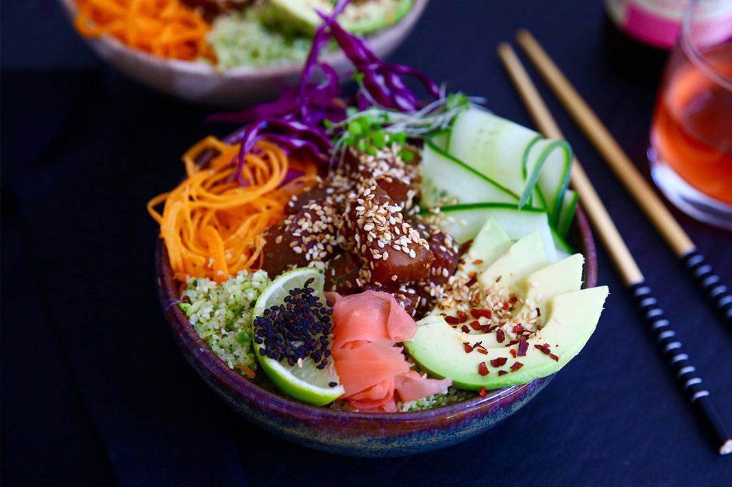 poke bowl, Jacqueline Alwill, The Brown Paper Bag Nutrition,